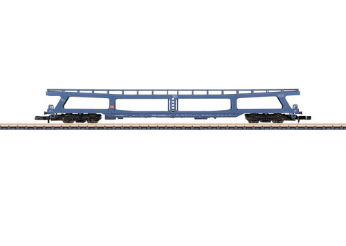 W441-87093  Type DDm 915 Auto Transport Car - Ready to Run -- German Federal Railroad DB (Era V, blue)