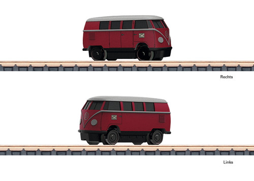 W441-88025  Class KLV Volkswagen T1 Inspection Van - Standard DC -- German Federal Railroad DB (Era III, red, silver)
