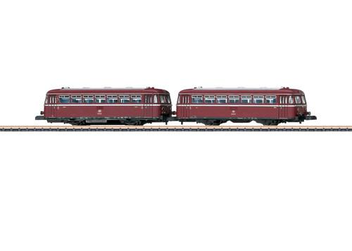 88167 Class 798 Railcar with 998 Cab Car - Standard DC -- German Federal Railroad DB (Era IV 1970s, red, silver)