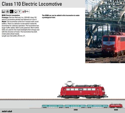 W441-88385  Class 110 Electric - Standard DC -- German Railroad DB AG (Era V, Traffic Red, gray)