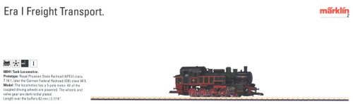 W441-88941  Tank Locomotive, Marklin Exclusive -- Royal Prussian Railway Adminis