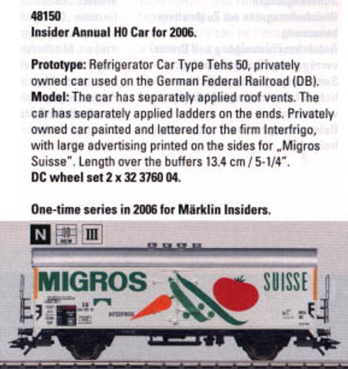 M48150  Wholesale Pricing!   2006 Insider HO Car