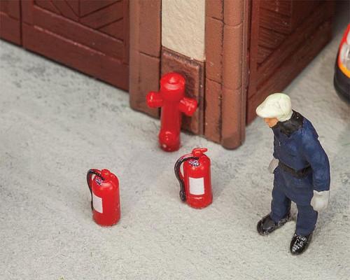 W272-180950  Fire Extinguishers & Hydrants -- 6 Extinguishers, 2 Hydrants