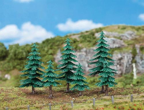 """W272-181604  Fir Trees -- 3 Each 2"""" & 4-3/4""""  5 & 12cm"""