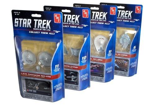 AMT-914  1/2500 Star Trek Ships of the Line Assortment (12 Total Snap)