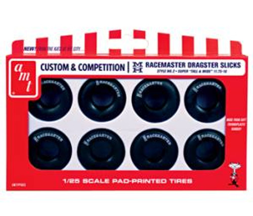 AMT003  1/25 scale M&H Racemasters Jumbo Drag Slicks Tire Pack