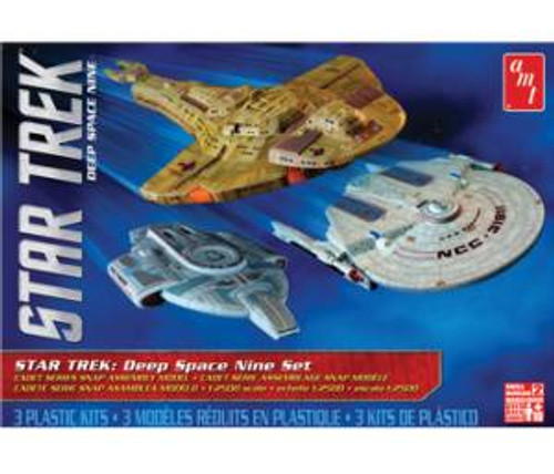 AMT764  Star Trek Cadet Series Deep Space 9 - 3 ship set SNAP