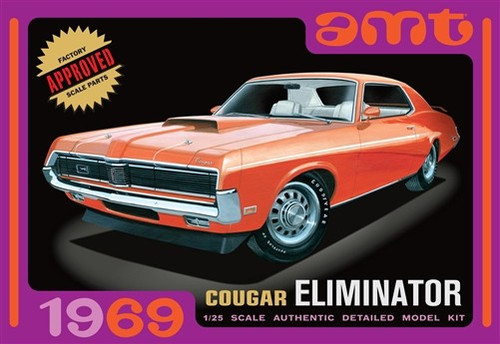 AMT-912  1/25 1969 Cougar Eliminator Car (Orange)