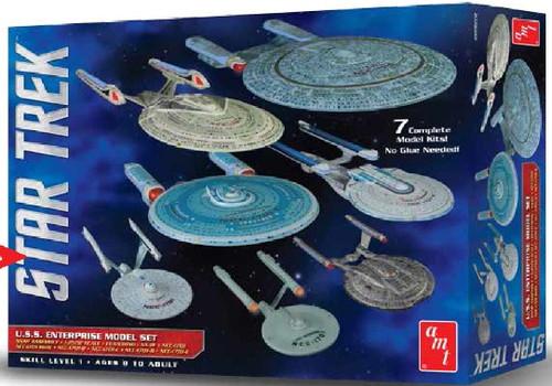AMT-954  1/2500 Star Trek USS Enterprise Set: NX01, NCC1701, NCC1701 Refit, NCC1
