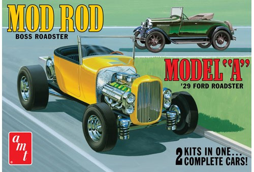 AMT-1002  1/25 1929 Ford Model A Roadster (2 Kits)