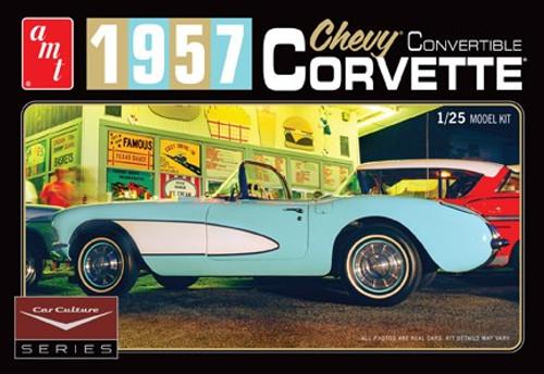 AMT-1015  1/25 1957 Chevy Corvette Convertible (White) Cindy Lewis Car Culture Diorama