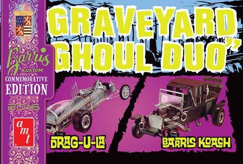 AMT-1017  1/25 George Barris Graveyard Ghoul Duo Drag-U-La & Barris Koach (Commemorative Edition)
