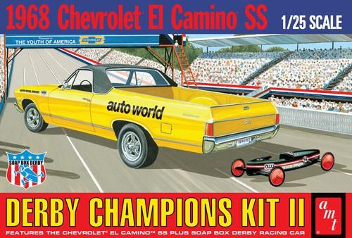 AMT-1018  1/25 1968 El Camino SS Derby Champion Race Car w/Soap Box Derby Car