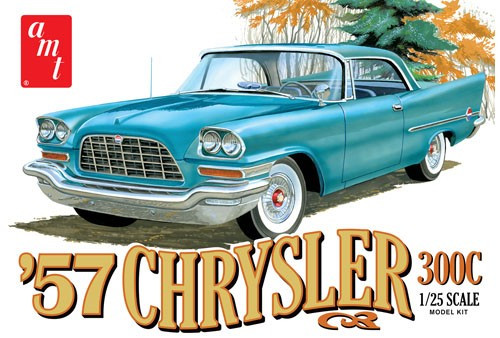 AMT-1100  1/25 1957 Chrysler 300 Car