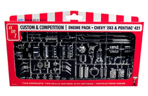 AMT-PP11  1/25 GM Engine Parts Pack: Chevy 283 & Pontiac 421
