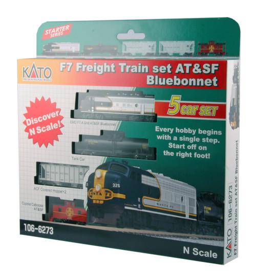 N F7 SF Blue Bonnet Freight Train Set w/o Track/LokSound