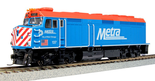 HO F40PH Diesel Chicago Metra #137/City of West Chicago w/Lo