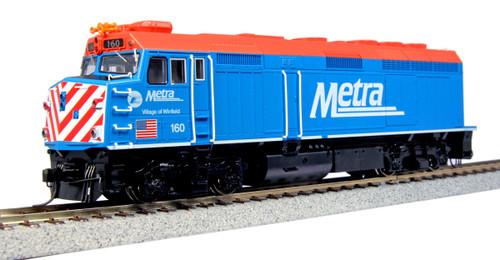 HO F40PH Diesel Chicago Metra #160/Village of Winfield w/Lok