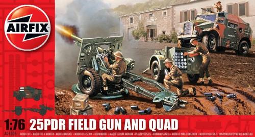 ARX-1305  1/76 25-Pdr Field Gun & Quad (D)