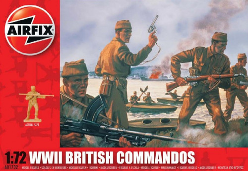 ARX-1732  1/72 WWII British Commandos Figure Set