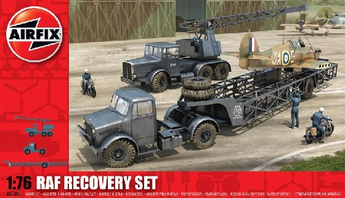 ARX-3305  1/76 RAF Recovery Set: Cole Mk 7 Crane & Queen Mary Trailer