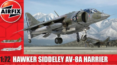 ARX-4057  1/72 Hawker Siddeley Harrier AV8A Combat Aircraft