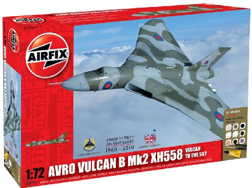 ARX-50097  1/72 Avro Vulcan Mk 2 XH558 RAF Aircraft Gift Set w/paint & glue