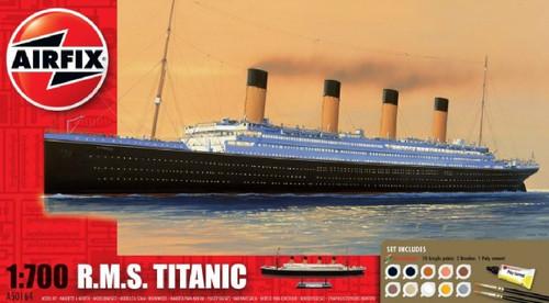 ARX-50164  1/700 RMS Titanic Ocean Liner Gift Set w/paint & glue