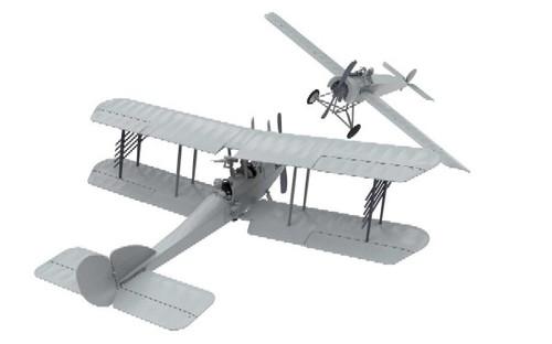 ARX-50177  1/72 Fokker EII & RAF BE2C Dogfight Doubles Gift Set w/paint & glue
