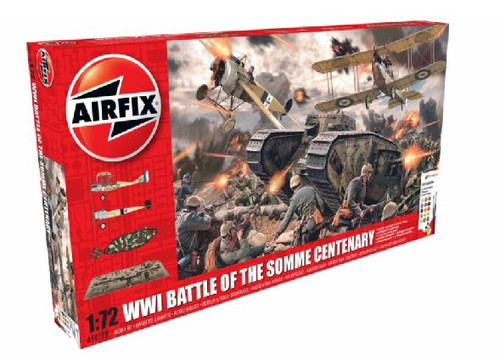 ARX-50178  1/72 WWI Battle of The Somme Centenary Gift Set w/paint & glue