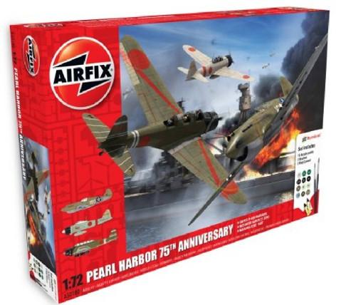 ARX-50180  1/72 P40B Warhawk, A6M2B21 Zero, B5N2 Kate Aircraft Pearl Harbor 75th Anniversary Gift Set w/paint & glue