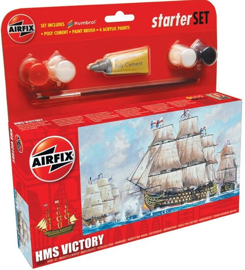 ARX-55104  HMS Victory Sailing Ship 145mm long Small Starter Set w/paint & glue