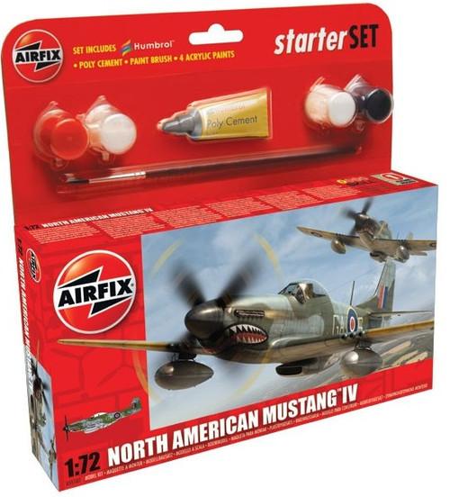 ARX-55107  1/72 P51D Mustang Fighter Small Starter Set w/paint & glue