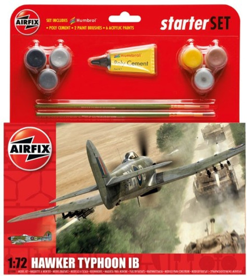 ARX-55208  1/72 Hawker Typhoon IB Fighter Medium Starter Set w/paint & glue
