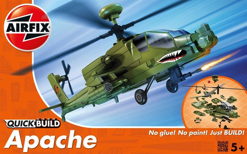 ARX-J6004  Quick Build Apache Helicopter (Snap)