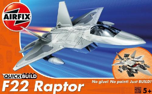 ARX-J6005  Quick Build F22 Raptor Fighter (Snap)