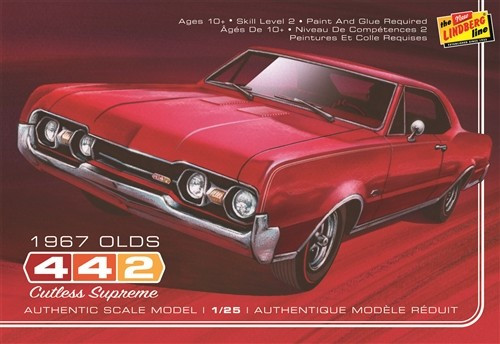 LND-127  1/25 1967 Oldsmobile 442 Cutlass Supreme Car