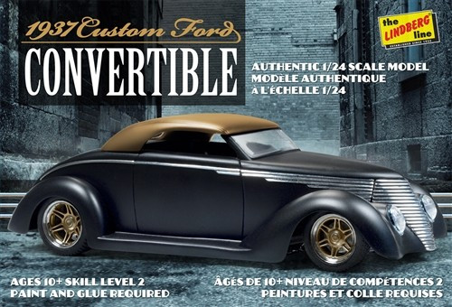 LND-129  1/24 1937 Ford Custom Convertible Car