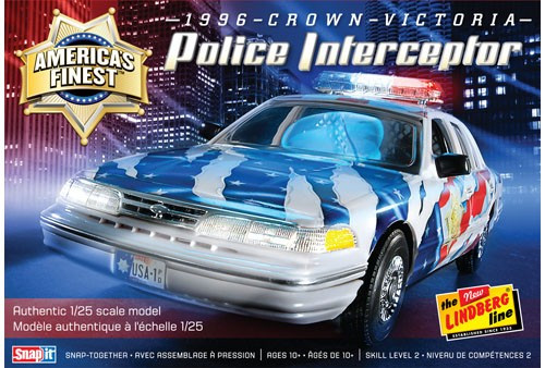 LND-130  1/25 1996 Crown Victoria Police Interceptor Car