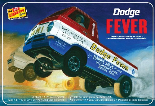 LND-135  1/25 Dodge Fever Wheelstander Drag Truck
