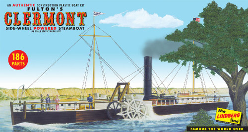 LND-200  1/96 Fulton's Clermont Side-Wheel Powered Steamboat