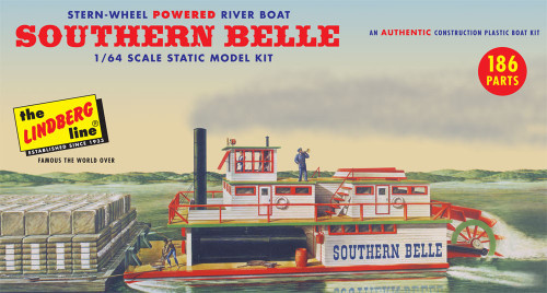 LND-201  1/64 Southern Belle Stern-Wheel Powered River Boat