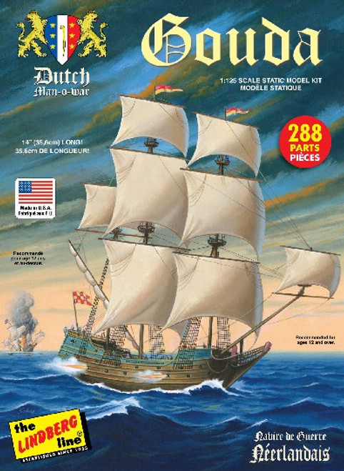 LND-204  1/25 Gouda Dutch Man-o-War Sailing Ship