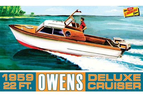 LND-222  1/25 1959 22ft Owens Outboard Deluxe Cruiser Boat