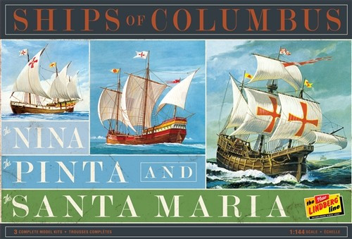 LND-223  1/144 Ships of Columbus: Nina, Pinta & Santa Maria Sailing Ships (3 Kit