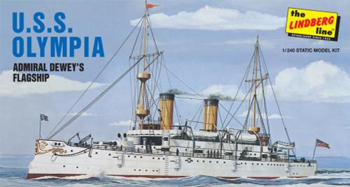 LND-402  1/240 USS Olympia Admiral Dewey's Flagship