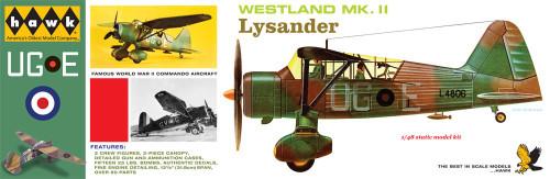LND-410  1/48 Westland Mk II Lysander Aircraft