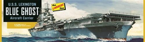LND-436  1/525 USS Lexington Blue Ghost Aircraft Carrier