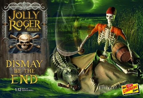 LND-611  1/12 Jolly Roger Dismay be the End Diorama: Pirate Skeleton & Alligator