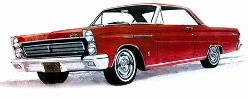 MOE-1210  1/25 1965 Mercury Comet Cyclone Car